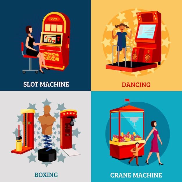 Concept de machine de jeu 2x2 Vecteur gratuit