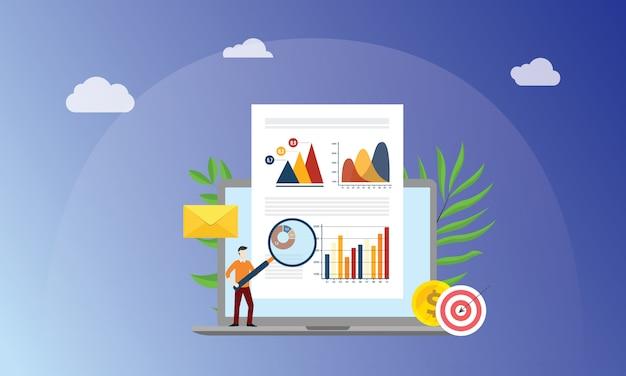 Concept de marketing de données visuelles Vecteur Premium
