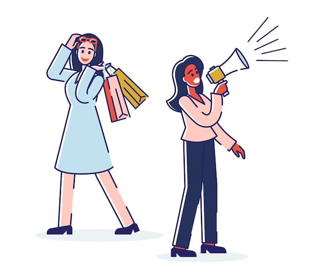 Concept De Marketing Numérique Et D'achats En Ligne. Vecteur Premium
