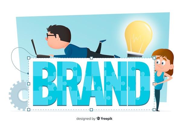 Concept de marque pour la page de destination Vecteur gratuit