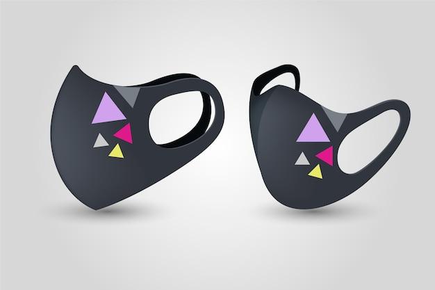 Concept De Masque Facial En Tissu Réaliste Vecteur Premium