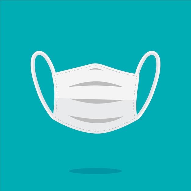 Concept De Masque Médical Plat Vecteur Premium