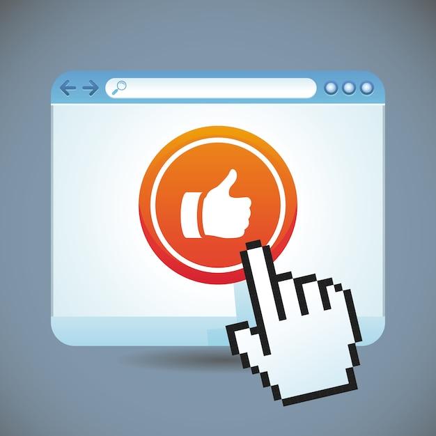 Concept de médias sociaux de vecteur Vecteur Premium