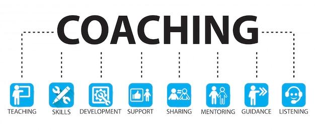 Concept de mentorat en leadership en affaires Vecteur Premium