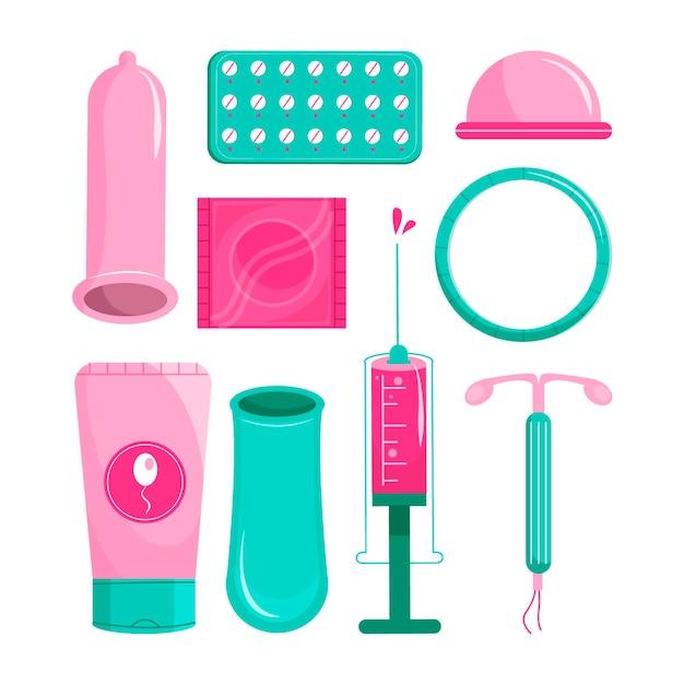 Concept De Méthodes De Contraception Vecteur gratuit