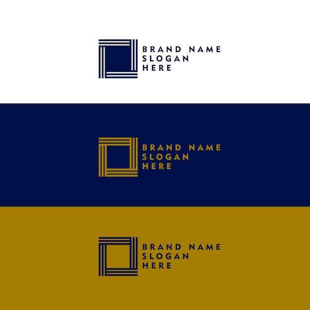 Concept minimal de conception de logo en forme carrée Vecteur gratuit