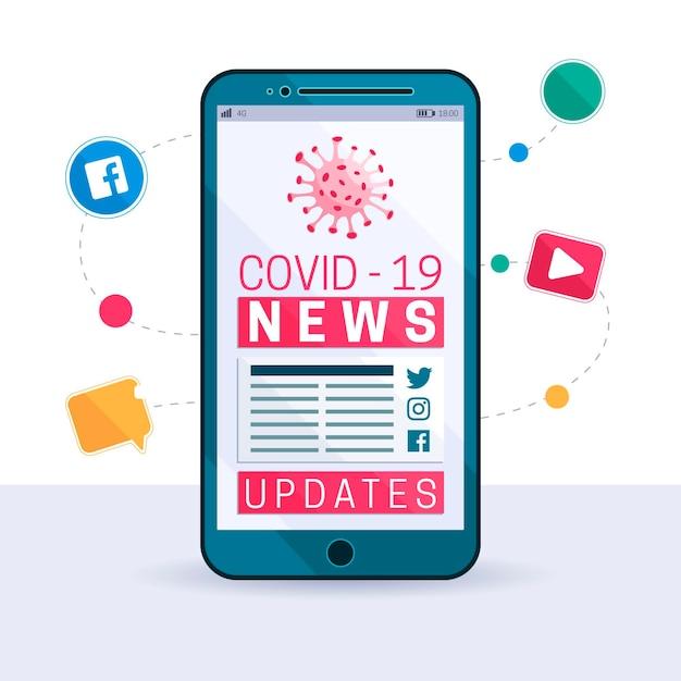 Concept De Mise à Jour Du Coronavirus Vecteur gratuit