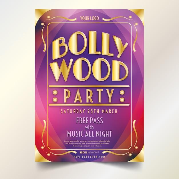 Concept De Modèle D'affiche De Fête De Bollywood Vecteur gratuit