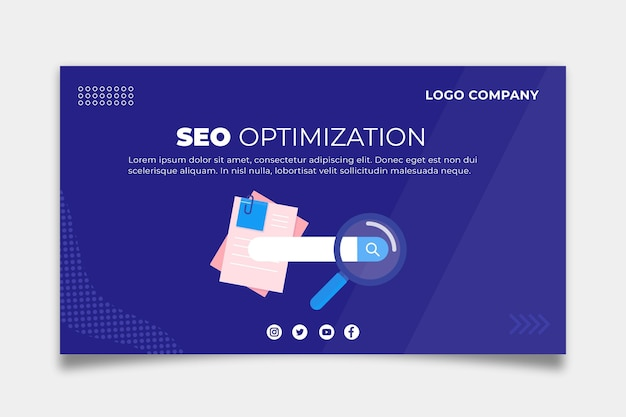 Concept De Modèle De Bannière Seo Vecteur gratuit
