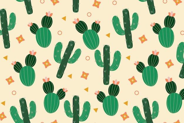 Concept De Modèle De Cactus Vecteur gratuit