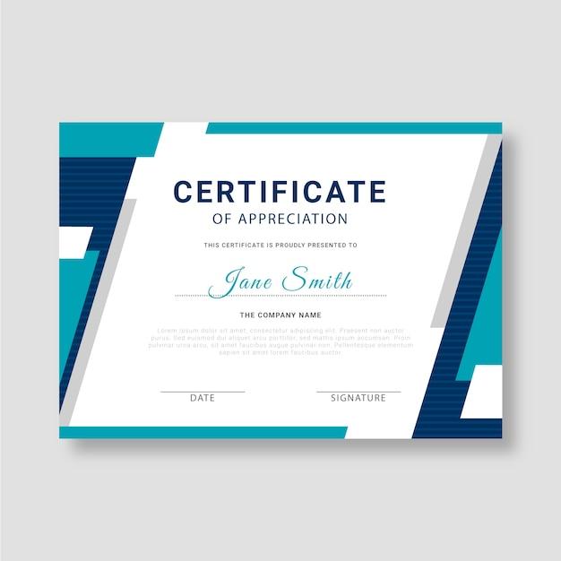 Concept De Modèle De Certificat Abstrait Vecteur gratuit