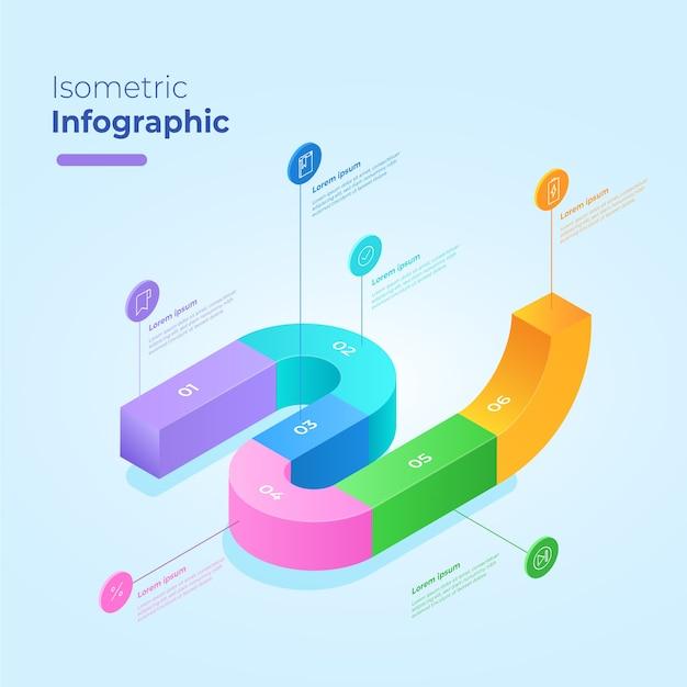 Concept De Modèle De Collection Infographique Isométrique Vecteur gratuit