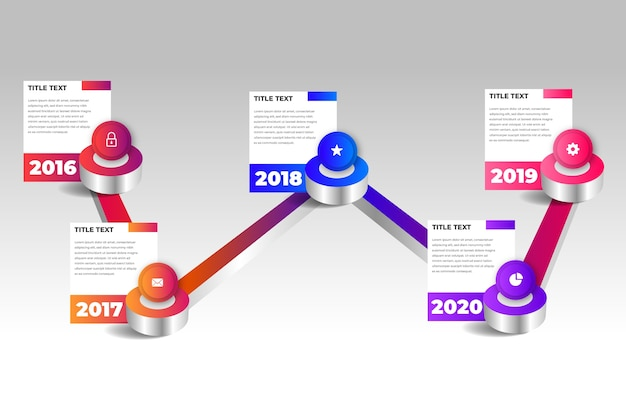 Concept De Modèle D'infographie Chronologie Vecteur gratuit