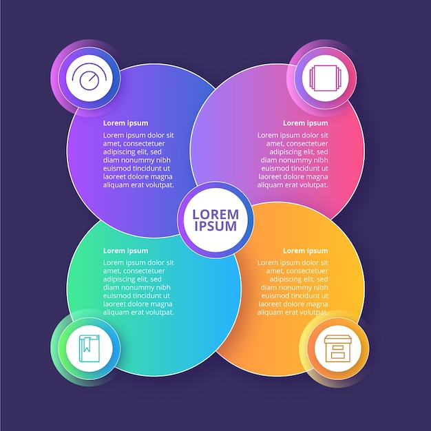 Concept De Modèle D'infographie Dégradé Vecteur gratuit