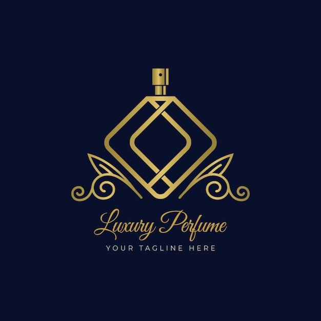 Concept De Modèle De Logo De Parfum De Luxe Vecteur Premium