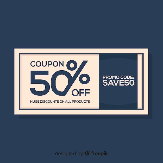 Concept de modèle moderne de coupon ou bon Vecteur gratuit