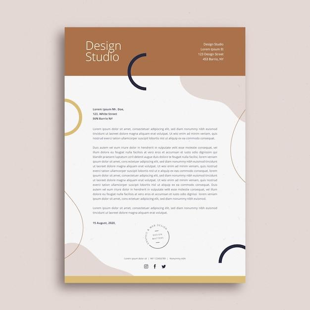 Concept De Modèle De Papier à En-tête D'entreprise Vecteur gratuit
