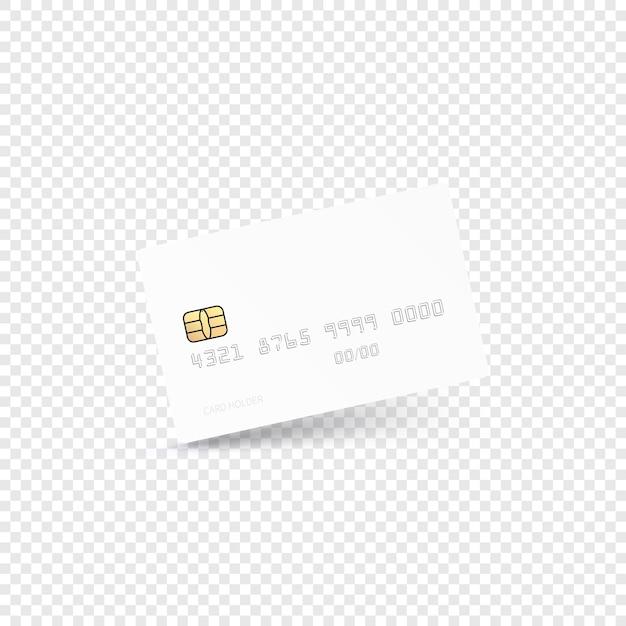 Concept Moderne De Carte De Crédit Vecteur Premium