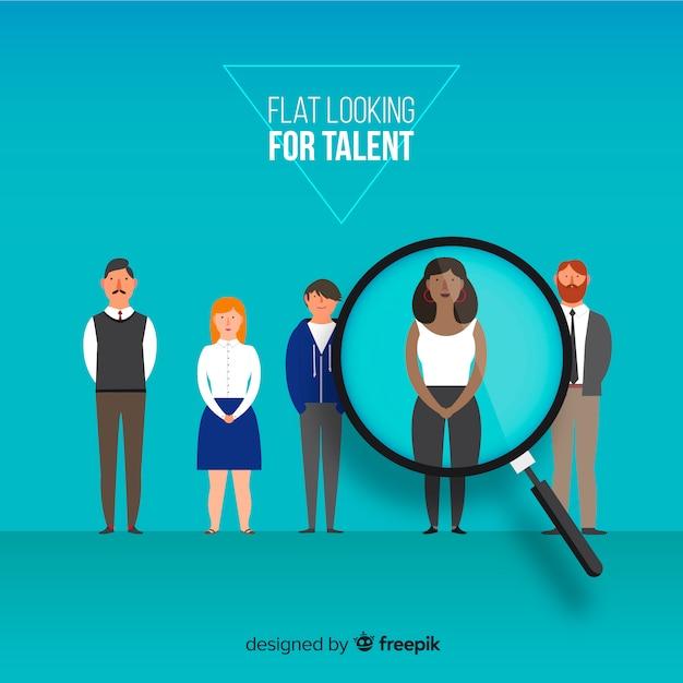 Concept moderne de recherche de talents Vecteur gratuit
