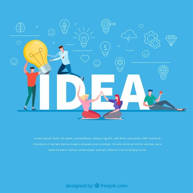 Concept de mot idée Vecteur gratuit