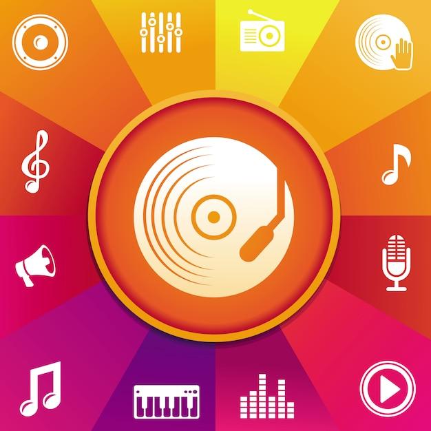 Concept de musique de vecteur Vecteur Premium