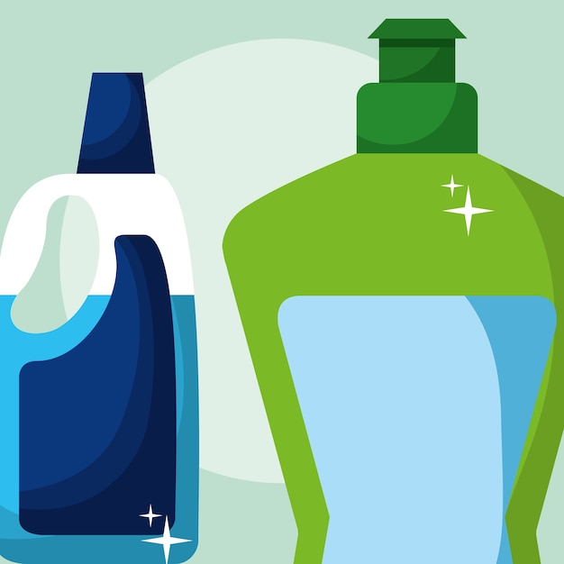 Concept de nettoyage de printemps Vecteur Premium