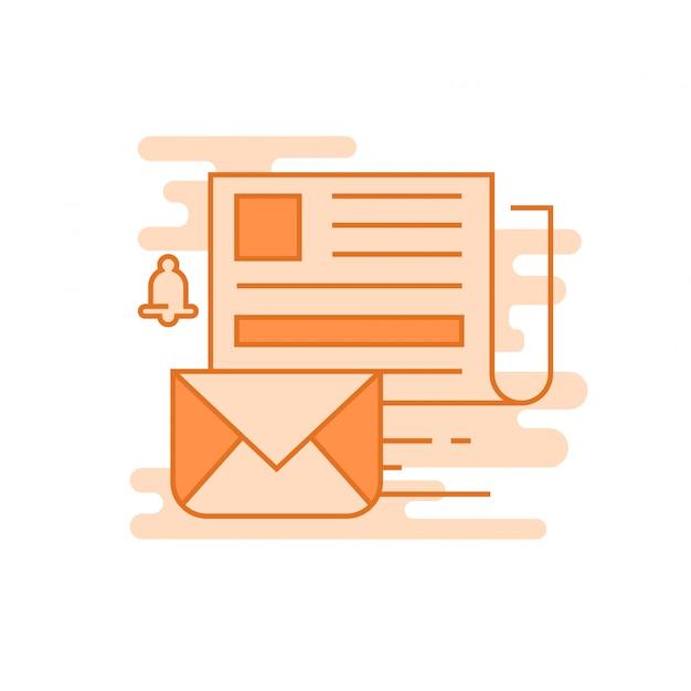 Concept de newsletter Vecteur Premium