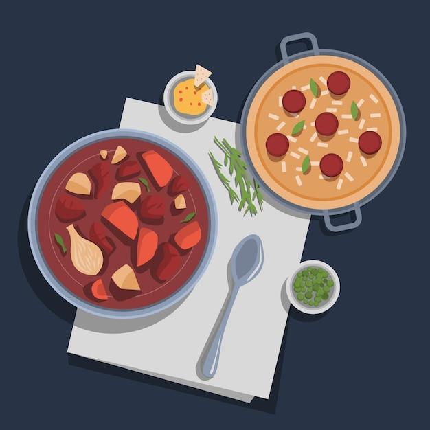 Concept De Nourriture Réconfortante Vecteur gratuit