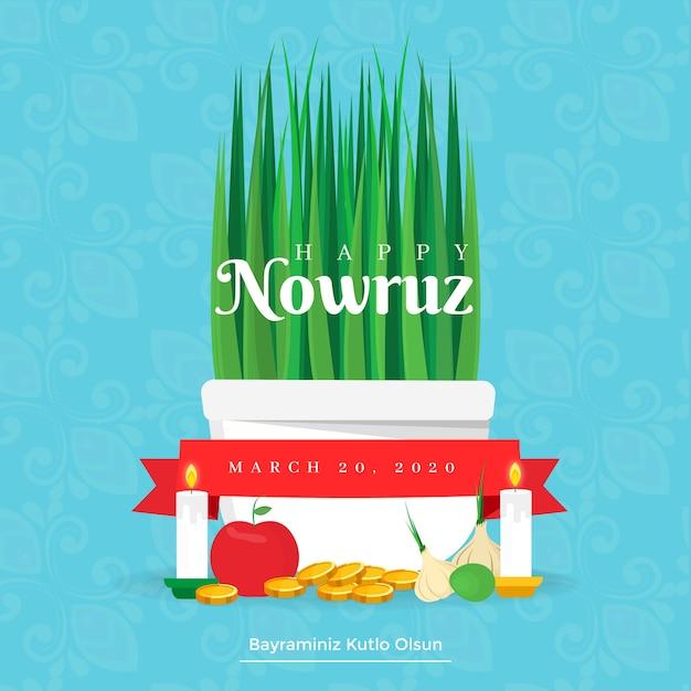 Concept De Nowruz Design Plat Vecteur gratuit