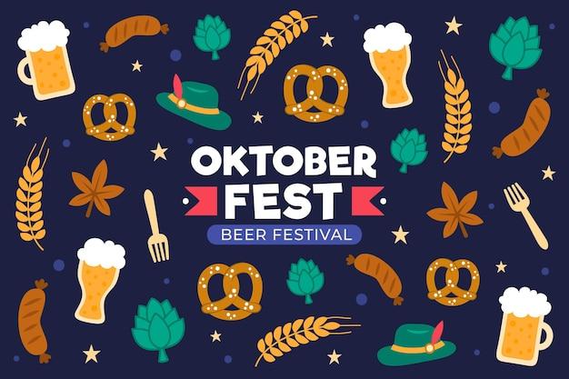 Concept Oktoberfest Au Design Plat Vecteur Premium