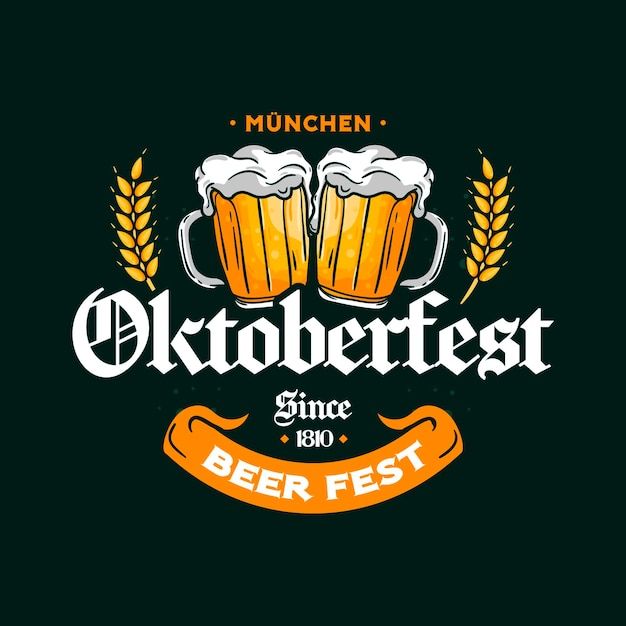 Concept D'oktoberfest Dessiné à La Main Vecteur gratuit
