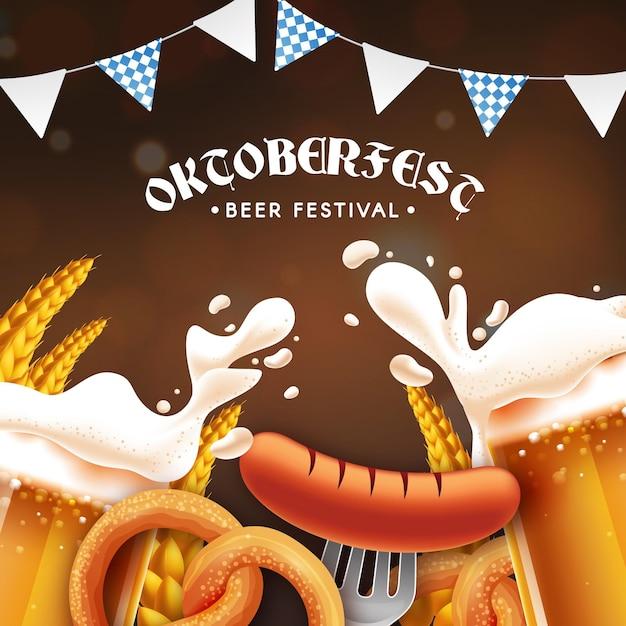 Concept Oktoberfest Réaliste Vecteur gratuit
