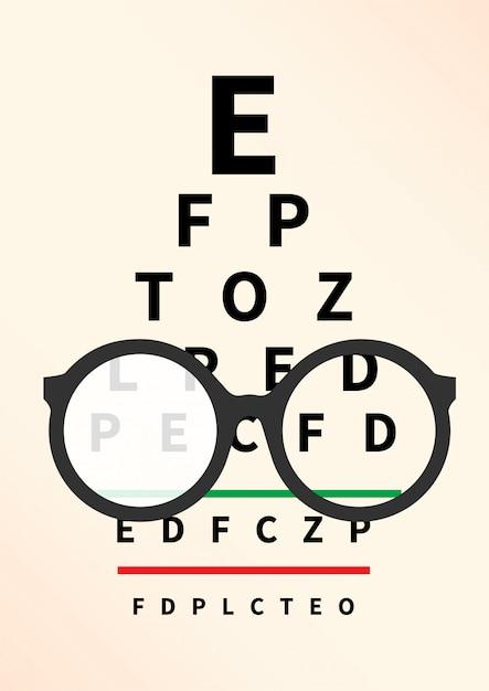Concept D'opticien. Vecteur Premium