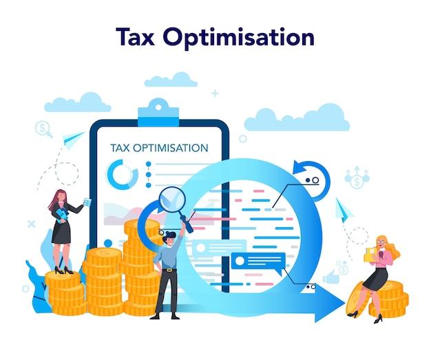 Concept D'optimisation Fiscale Vecteur Premium
