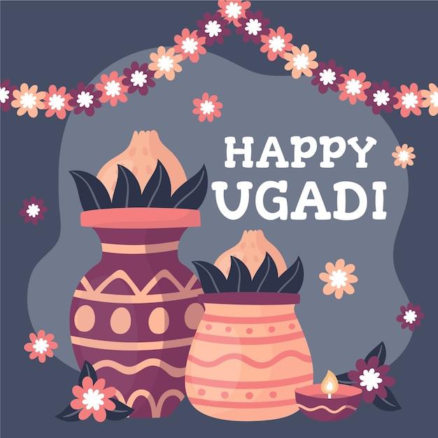 Concept Ougadi Dessiné à La Main Vecteur gratuit