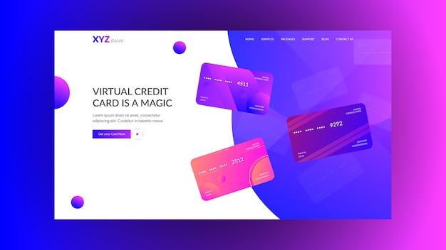 Concept de page de destination pour les banques et start-up modernes Vecteur Premium