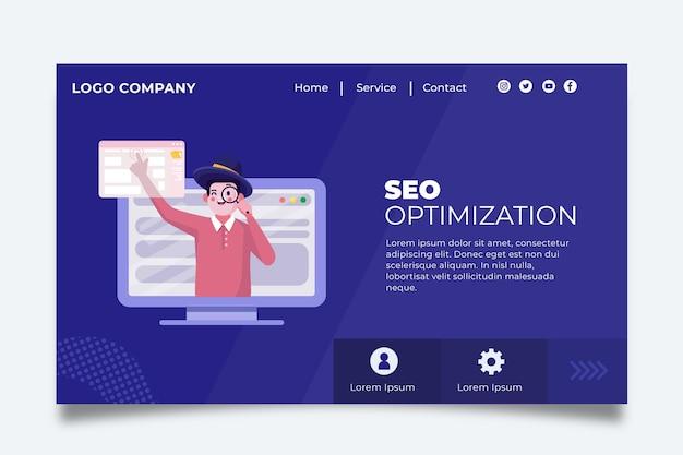 Concept De Page De Destination Seo Vecteur gratuit