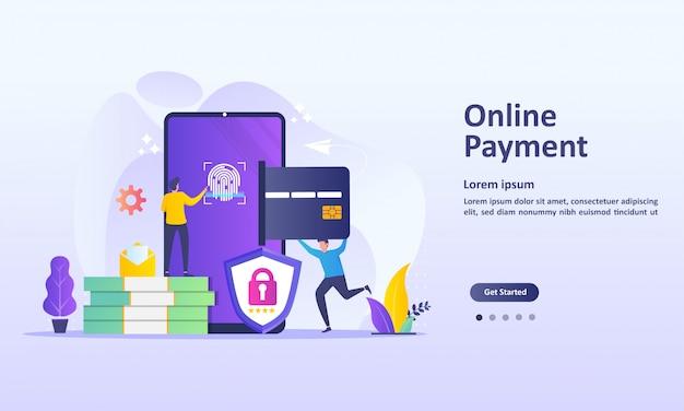 Concept de paiement en ligne Vecteur Premium