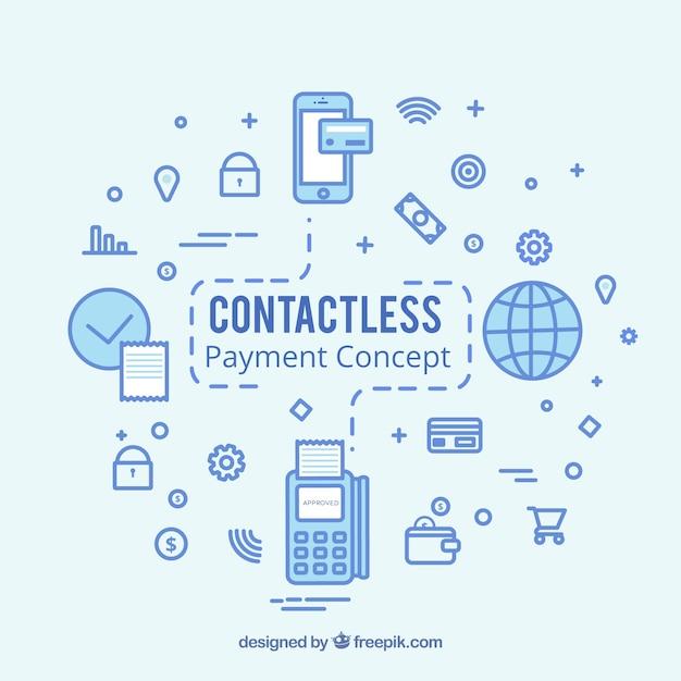 Concept de paiement sans contact moderne Vecteur gratuit