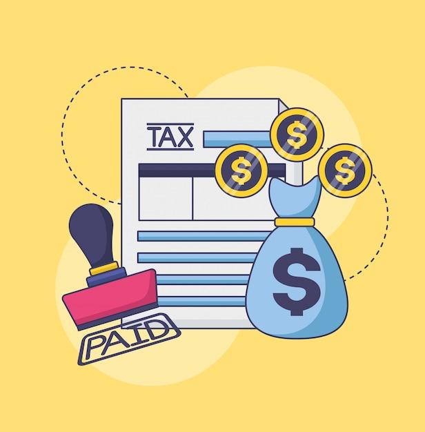 Concept De Paiement Des Taxes Vecteur gratuit