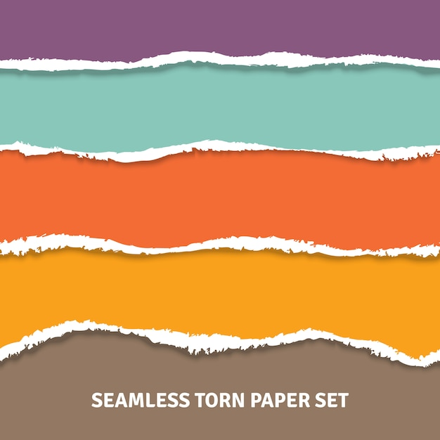 Concept de papier déchiré sans soudure Vecteur gratuit