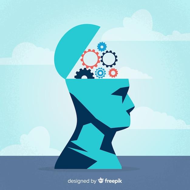 Concept de pensée plate Vecteur gratuit