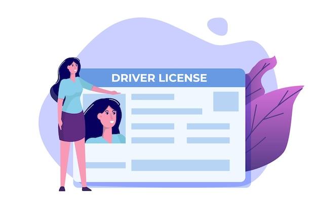 Concept De Permis De Conduire De Voiture. Vecteur Premium