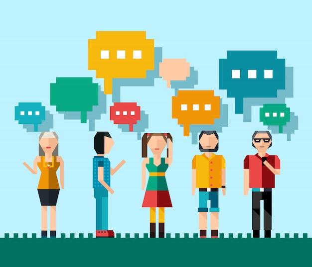 Concept de personnes sociales Vecteur gratuit