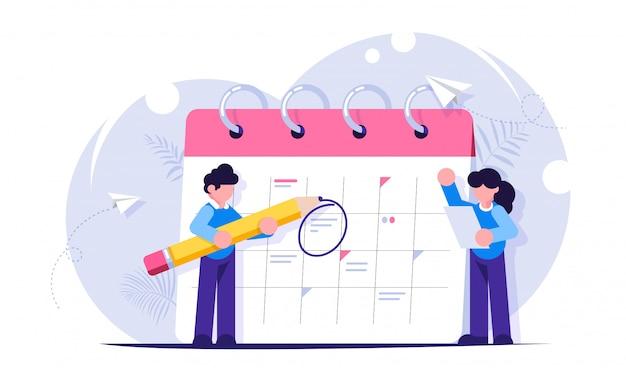 Concept De Planification Des Tâches Pour La Semaine, Le Mois. Vecteur Premium
