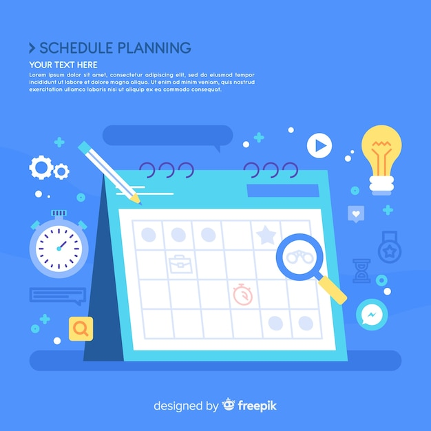 Concept de planning créatif Vecteur gratuit
