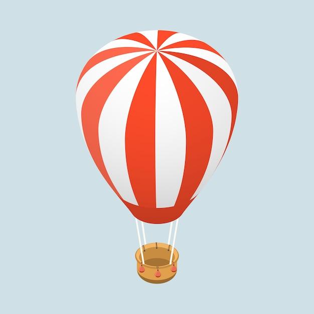 Concept Plat Isométrique 3d De Ballon à Air Vecteur Premium
