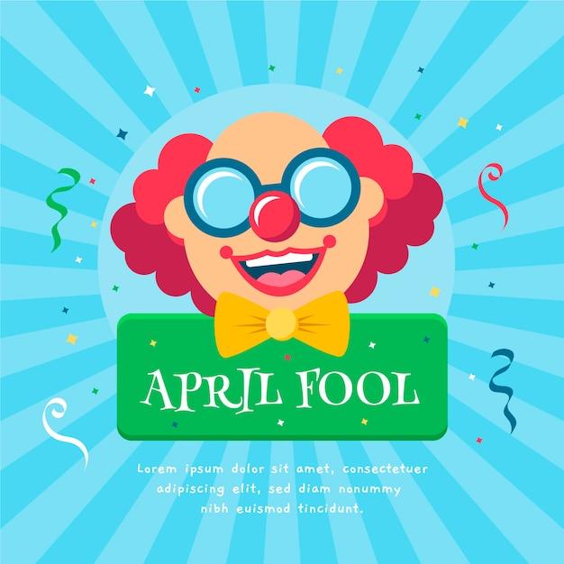 Concept De Poisson D'avril Vecteur gratuit