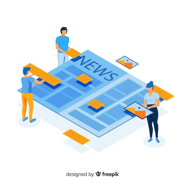 Concept pour la page de destination Vecteur gratuit