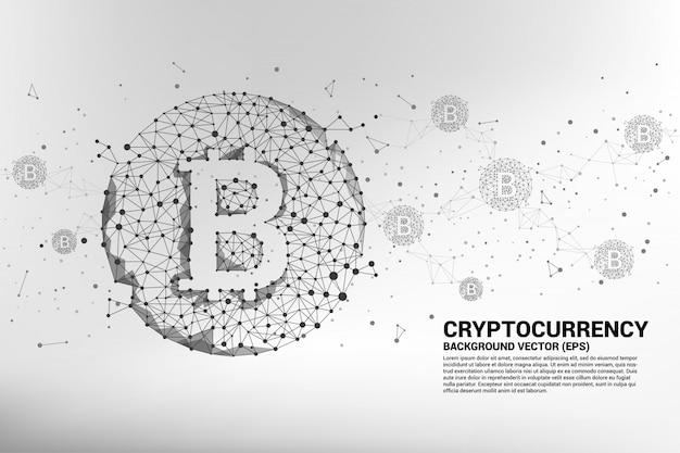 Concept pour la technologie de crypto-monnaie. Vecteur Premium